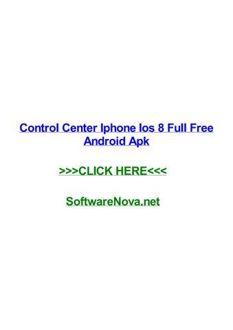 ios 8 control center apk