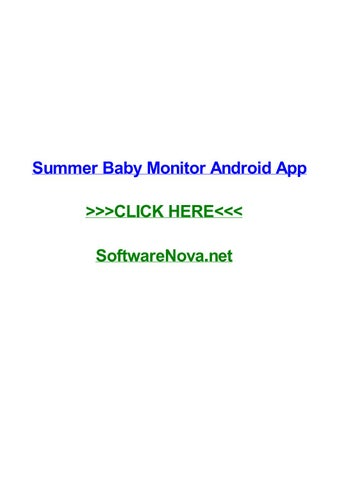 Summer baby monitor android app