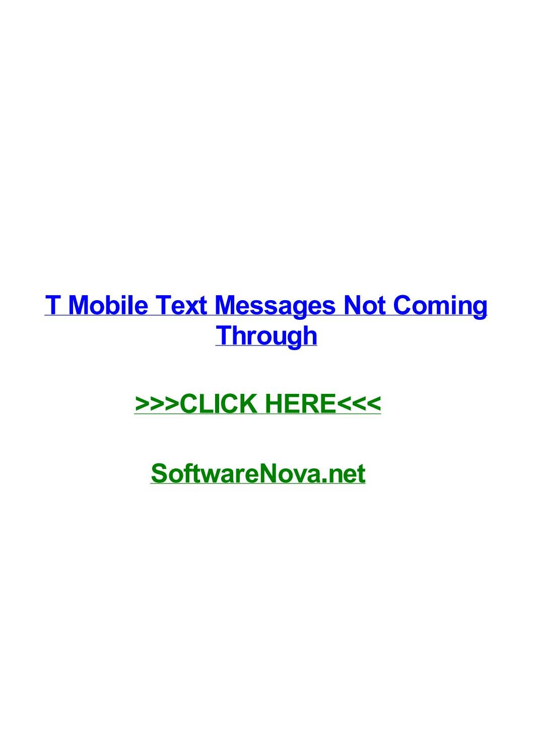 T mobile text messages not coming through by terrytkvoh - issuu