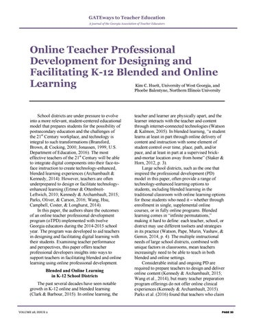 Page 34 of Online Teacher Professional Development for Designing and Facilitating K-12 Blended and Online Learning