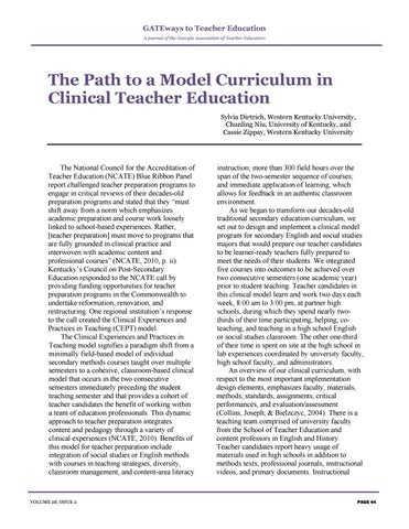 Page 48 of The Path to a Model Curriculum in Clinical Teacher Education