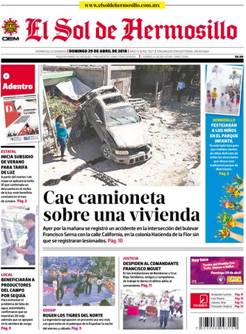 Edición impresa 29 de abril 2018 by El Sol de Hermosillo - issuu 5895893643c