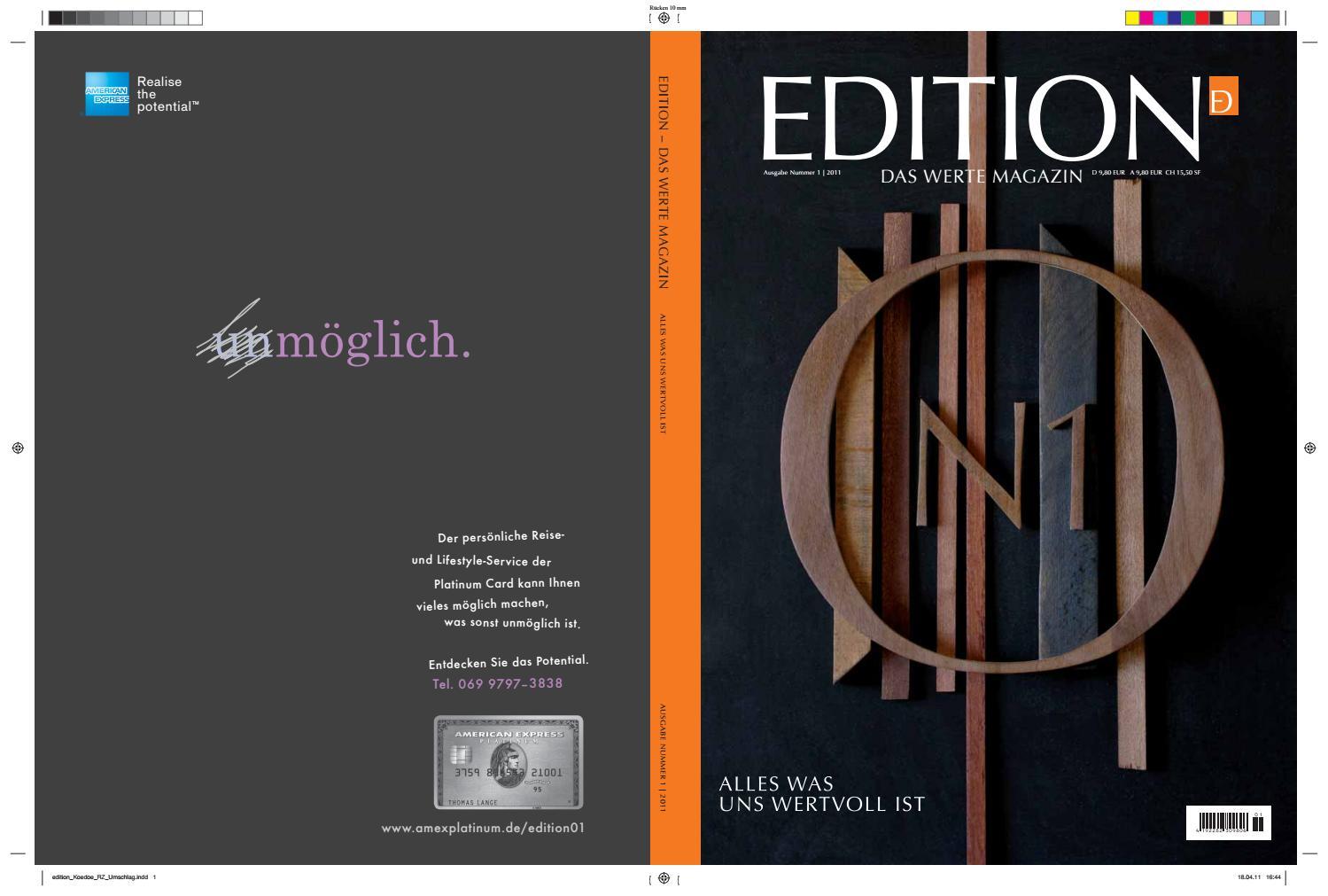 Edition Magazin 1 By Premium Media Gmbh A Company By Kd