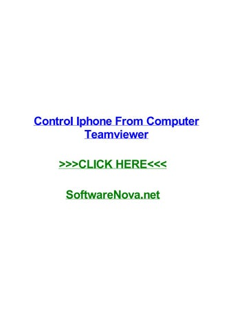 Control iphone from computer teamviewer by julienxnz - issuu