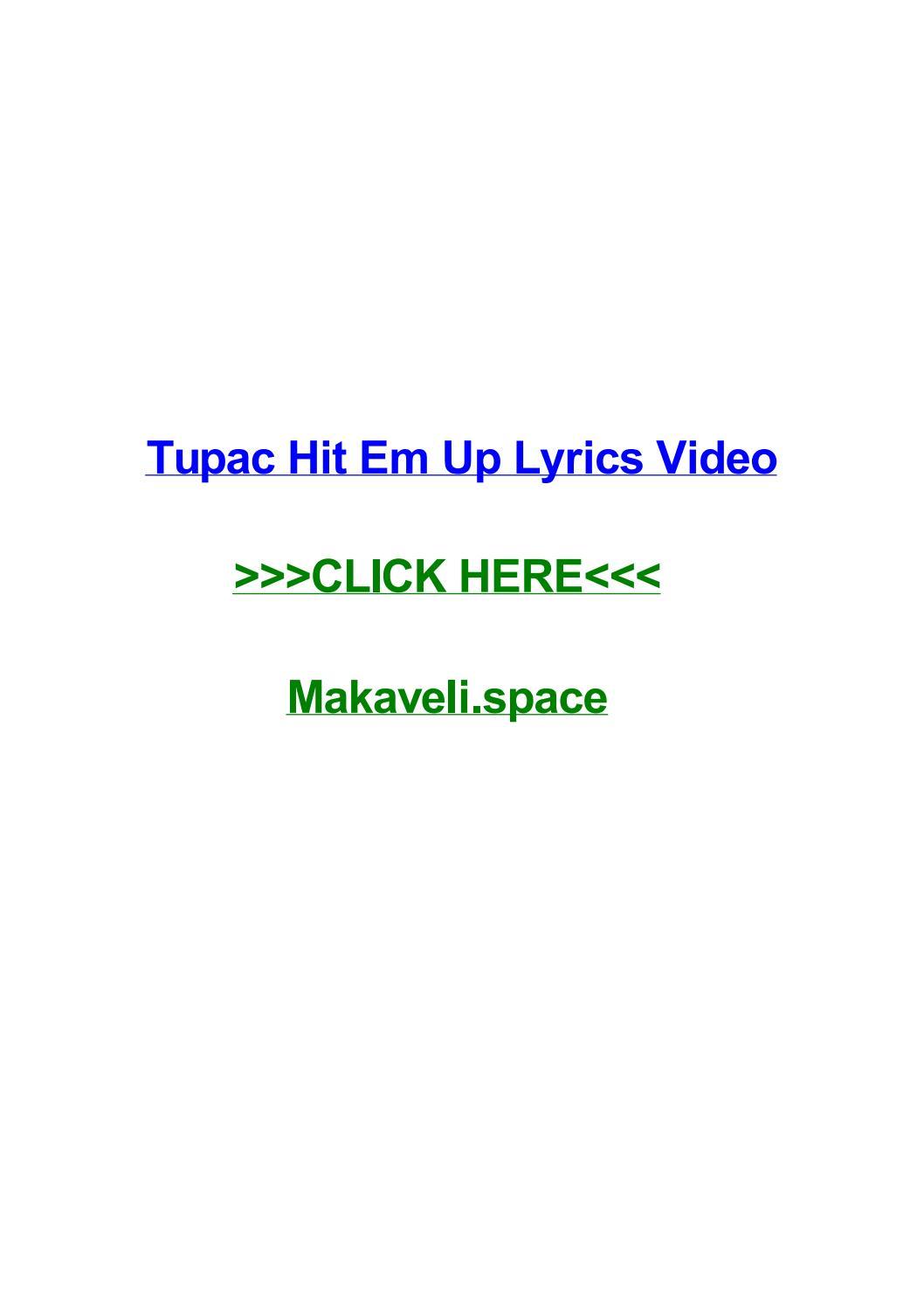 Tupac hit em up lyrics video by jaredvnir - issuu