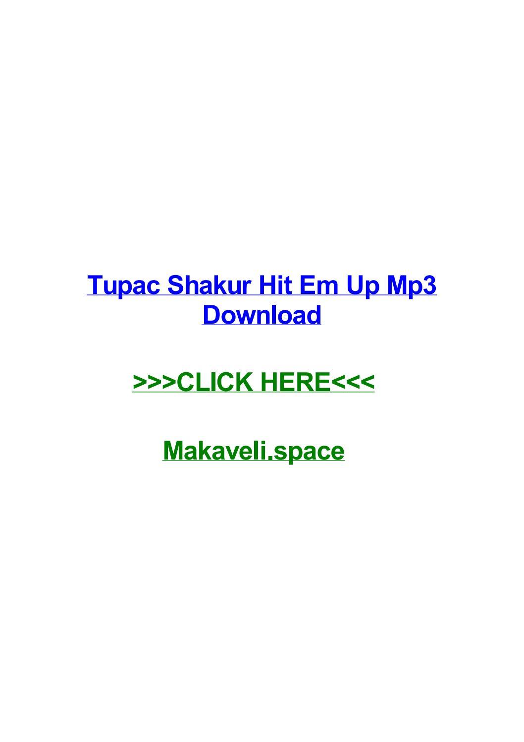 Tupac shakur hit em up mp3 download by corylnur - issuu