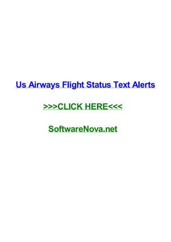 Us airways flight status text alerts by darrenthtgf - issuu