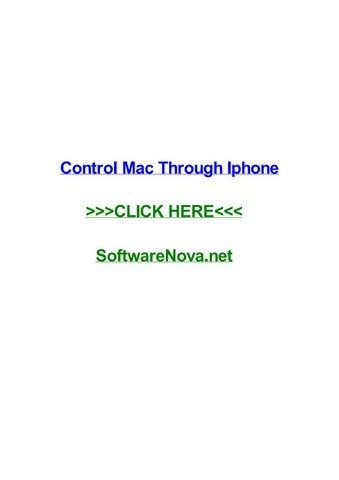 Control mac through iphone by jeremypfdy - issuu