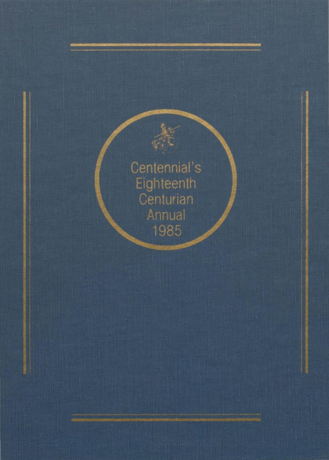 The Centurian Yearbook 1985 By Centurian Archives Issuu