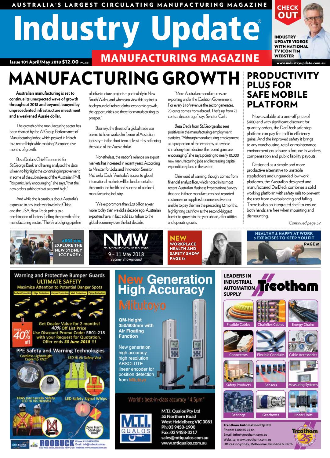 APRIL/MAY 2018 ISSUE 101 by Industry Update - issuu