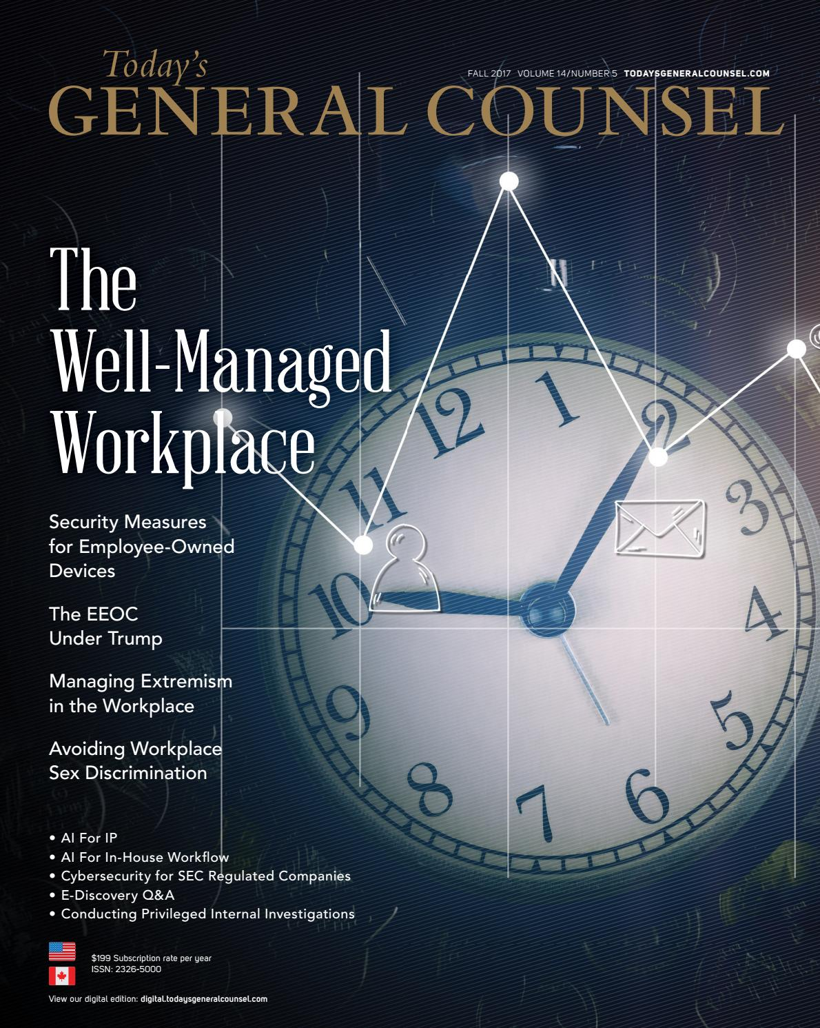 Today\'s General Counsel, V14 N5, Fall 2017 by Today\'s ...