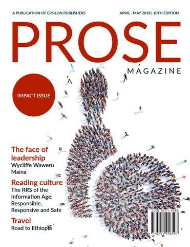 Prose April - May 2018 by Epsilon Publishers - issuu