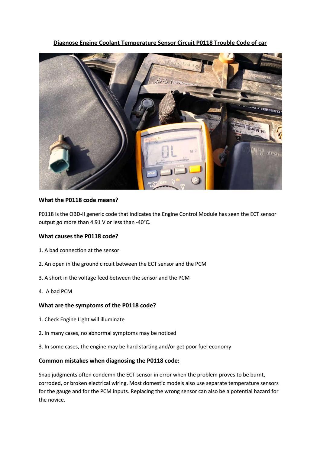 Partsavatar Car Parts, Canada - Diagnose engine coolant