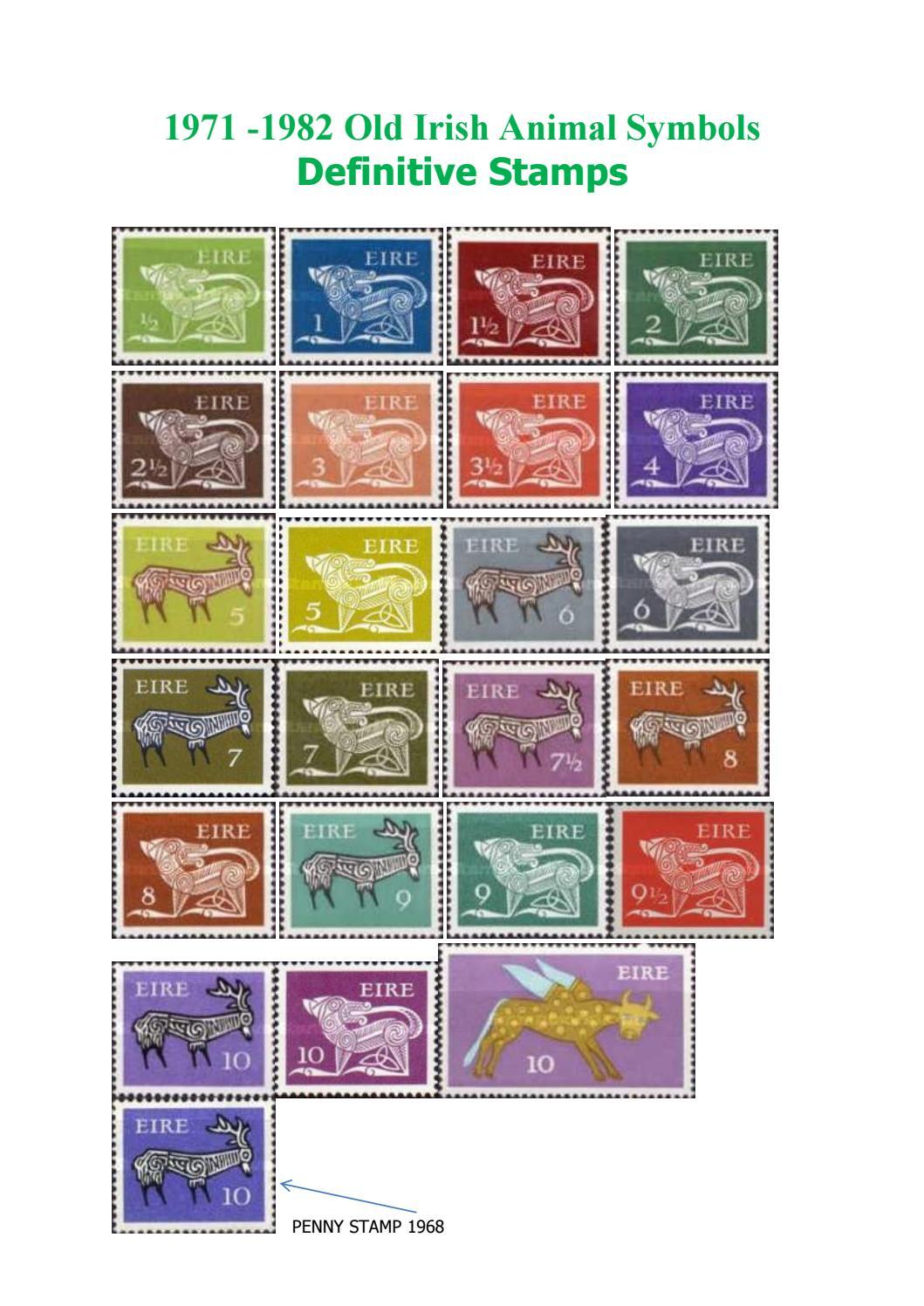 1968 1982 Old Irish Animal Stamps By Joseph Robinson Issuu
