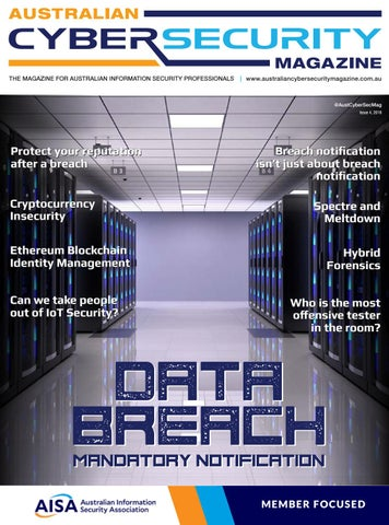 70c6062f25f68 Australian Cyber Security Magazine, ISSUE 4, 2018 by Asia Pacific ...