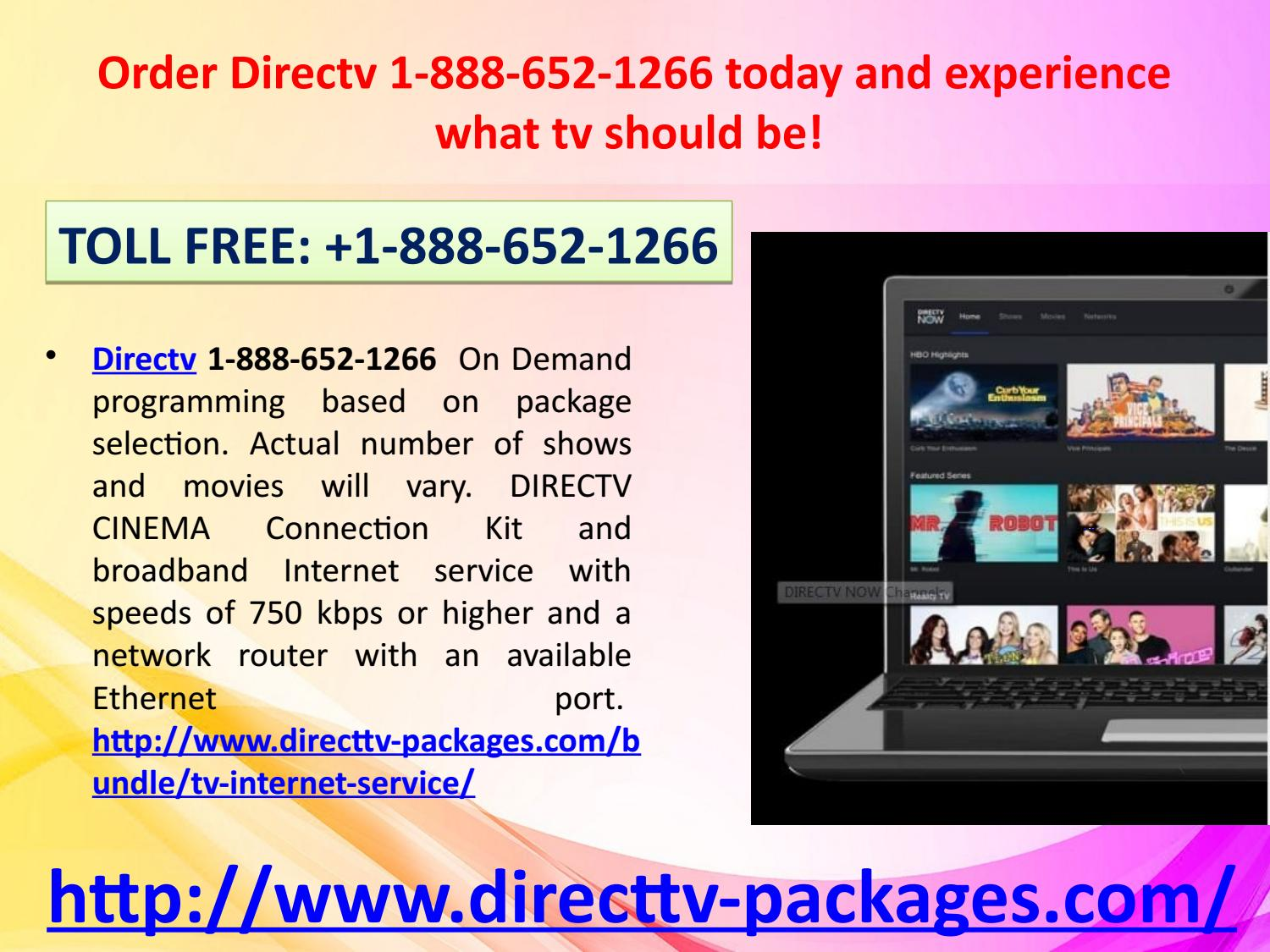 Does Directv Have Internet Service >> Order Directv 1 888 652 1266 Today And Experience What Tv