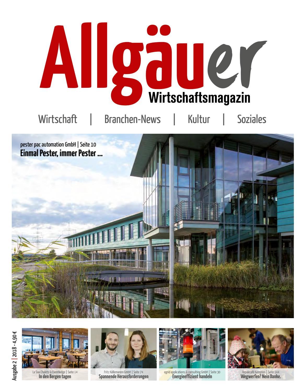 Allgauer Wirtschaftsmagazin 2 2018 By Thomas Tanzel Issuu
