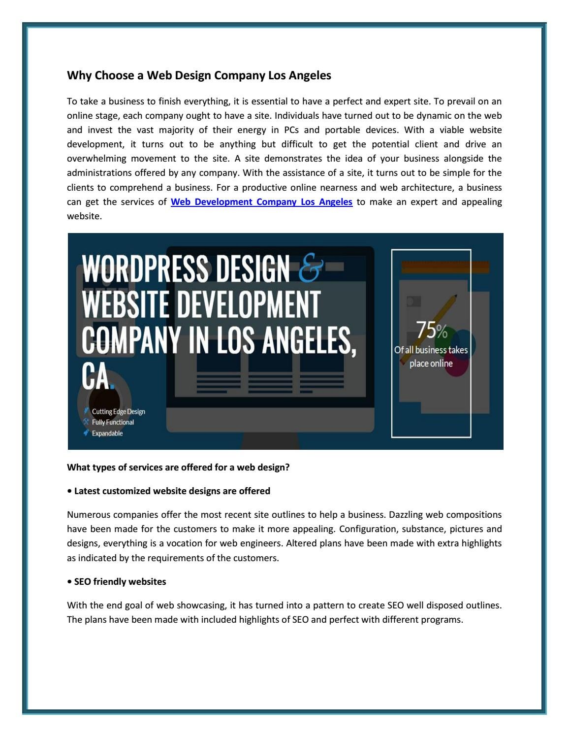 Web Design Company Los Angeles Ca By Digni Soft Issuu