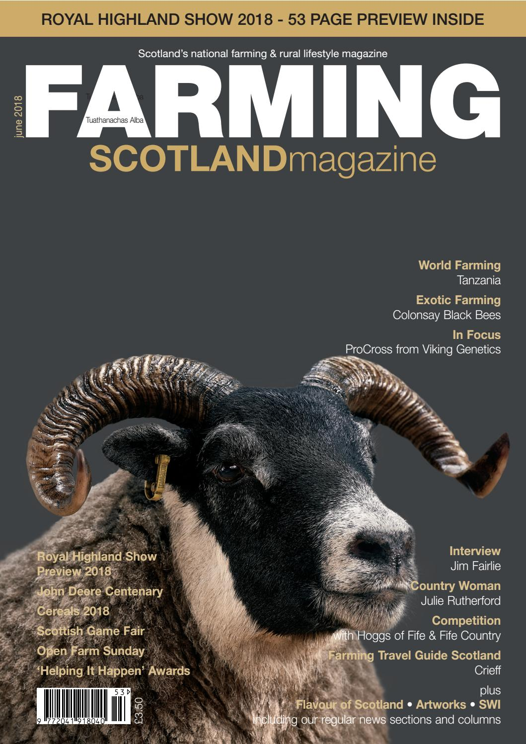Farming Scotland Magazine (May - June 2018) by Athole Design & Publishing  Ltd - issuu