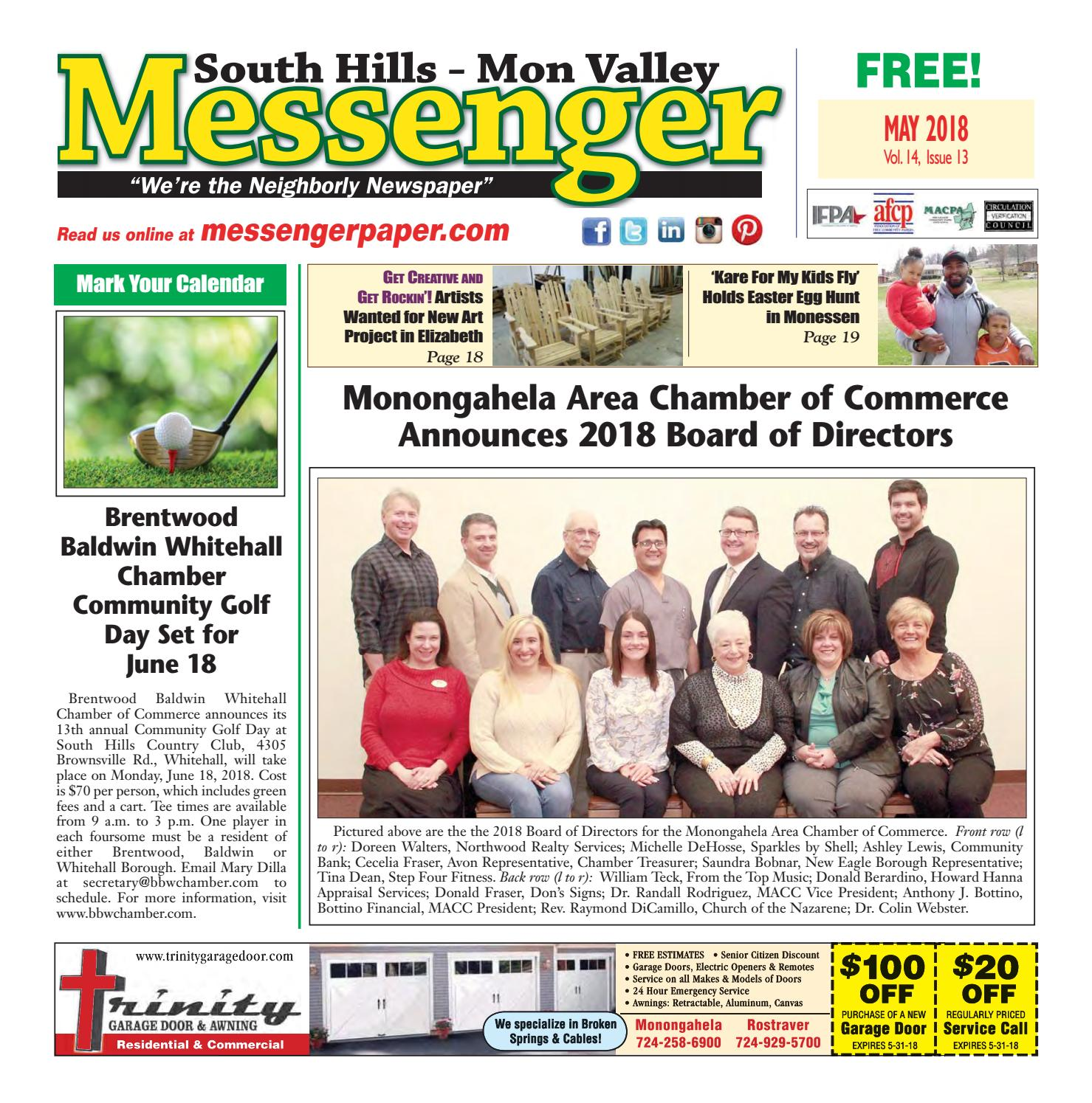 South Hills Mon Valley Messenger May 2018 by South Hills Mon Valley Messenger issuu