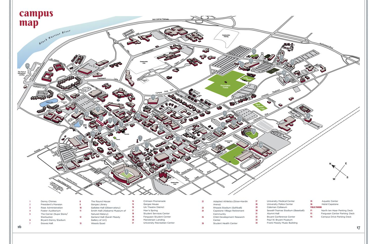 Campus Visitors Guide 2018 2019 By The University Of Alabama Issuu