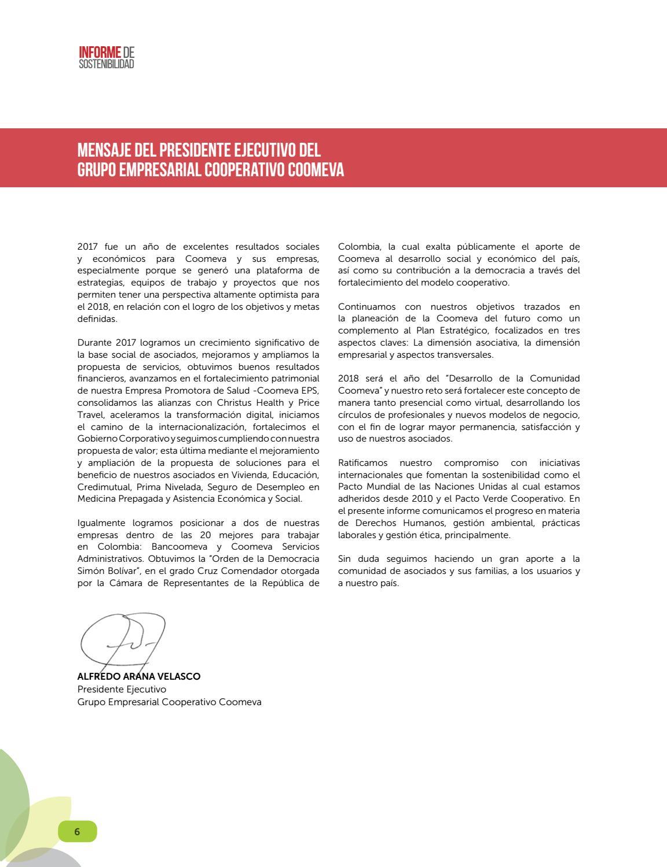 Informe Sostenibilidad Bancoomeva By Comunicacion Efectiva