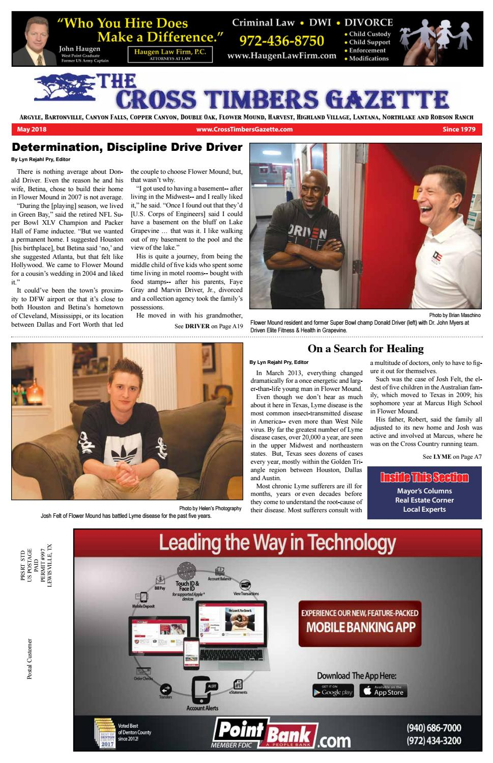 The Cross Timbers Gazette May 2018 by The Cross Timbers Gazette - issuu