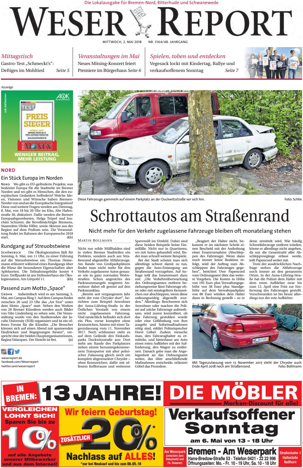 Weser Report Nord vom 02.05.2018 by KPS
