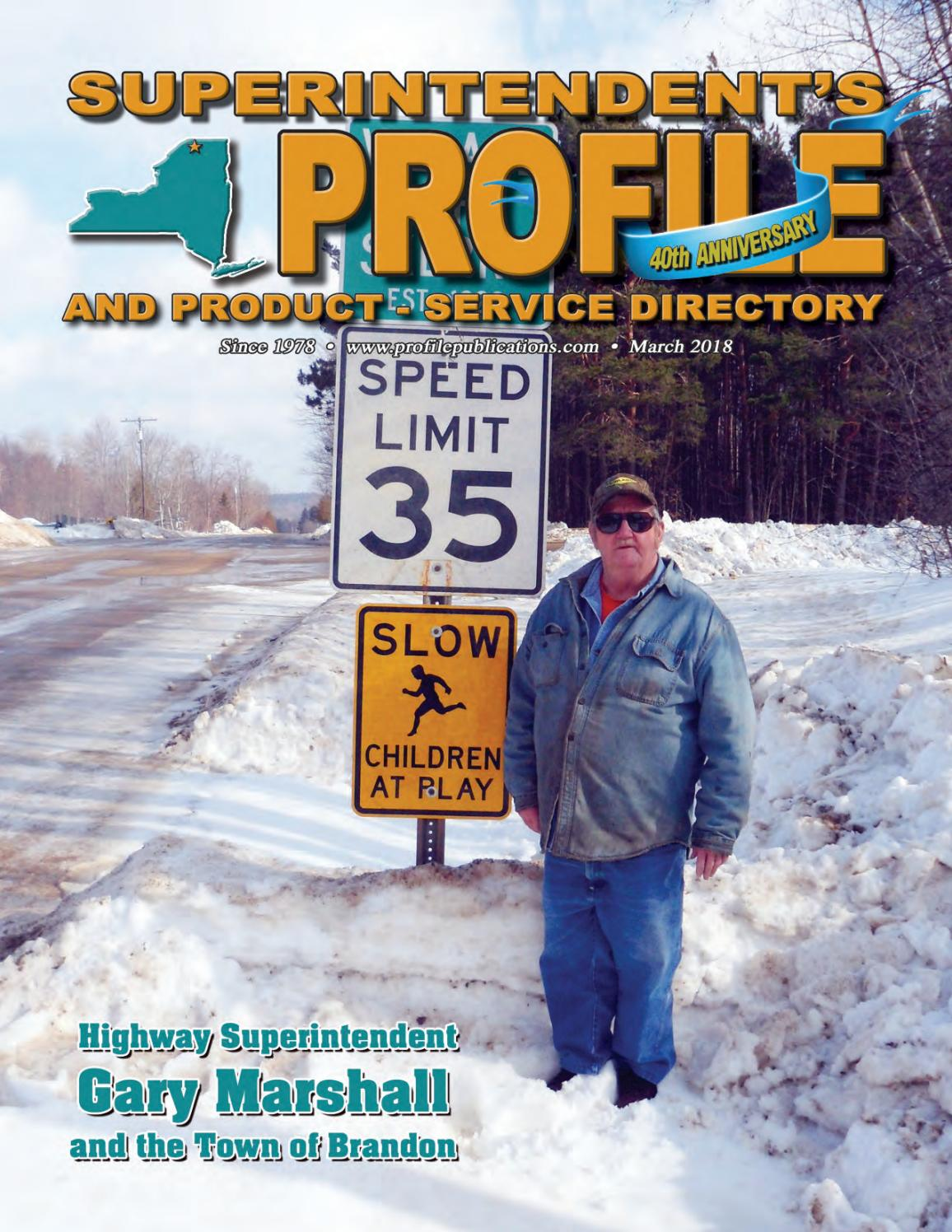 Superintendent's Profile March 2018 by Construction