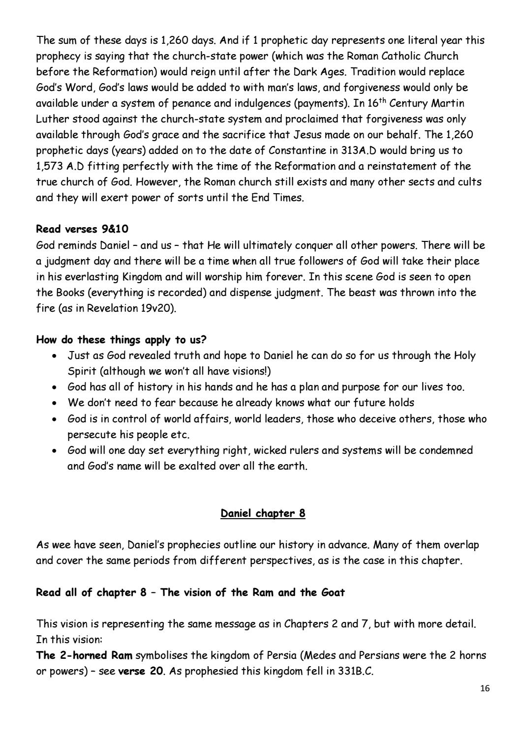 The Book of Daniel Bible Study by Estuary Elim Church Group
