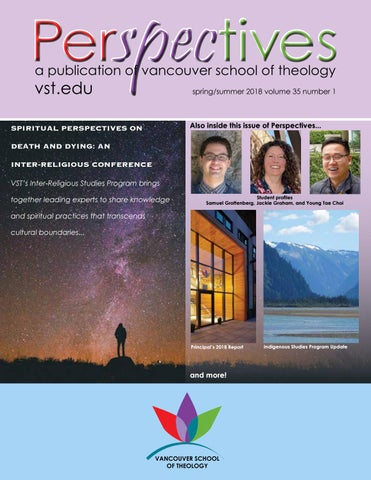 Perspectives spring 2018 by Vancouver School of Theology - issuu