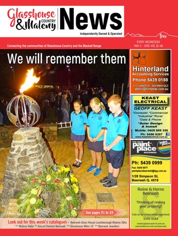 Edition 2 May 2018 By Glasshouse Country News