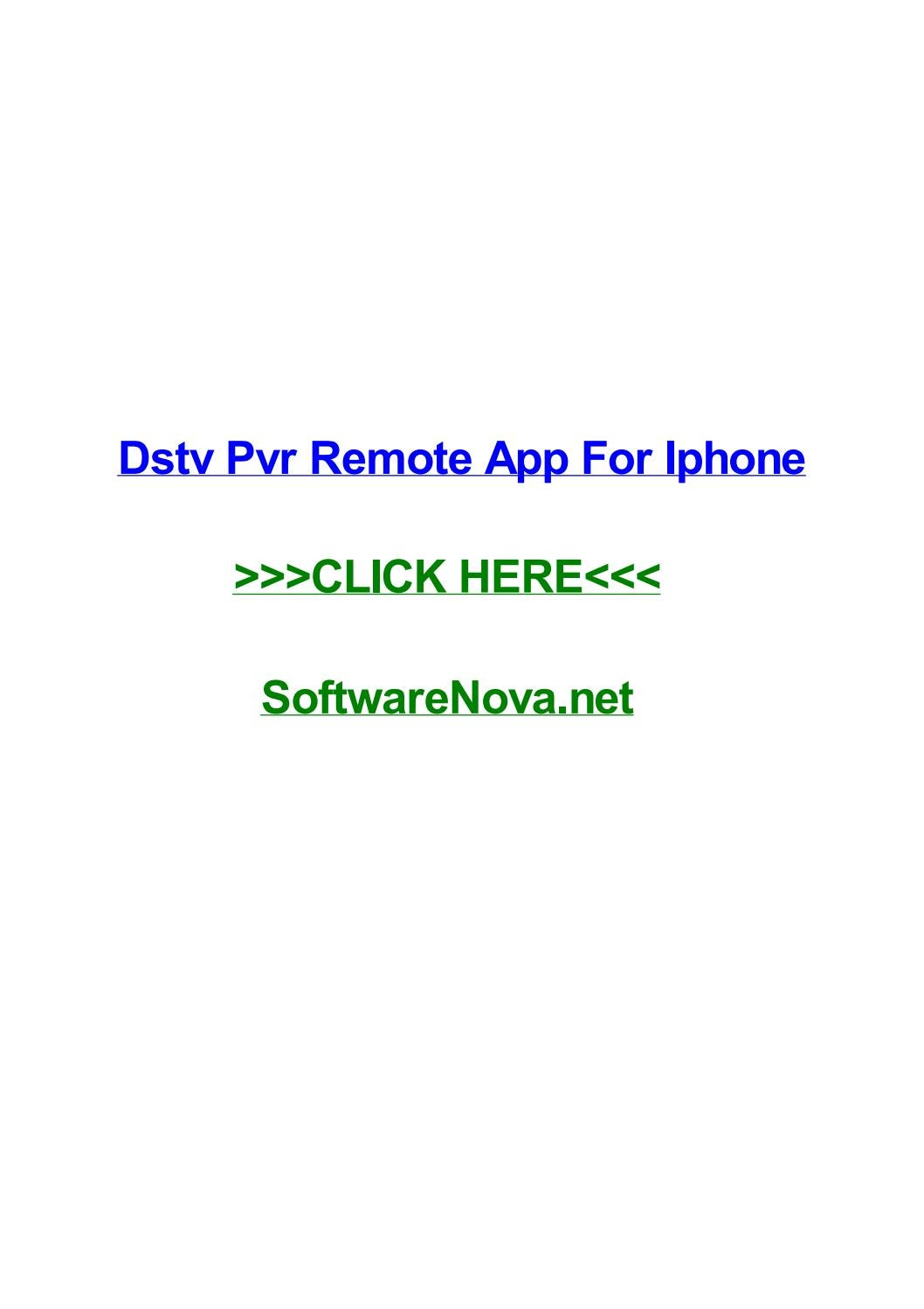 Dstv pvr remote app for iphone by amyhldy - issuu
