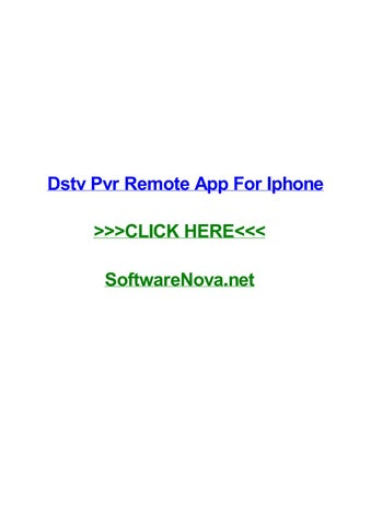 Dstv pvr remote app for iphone