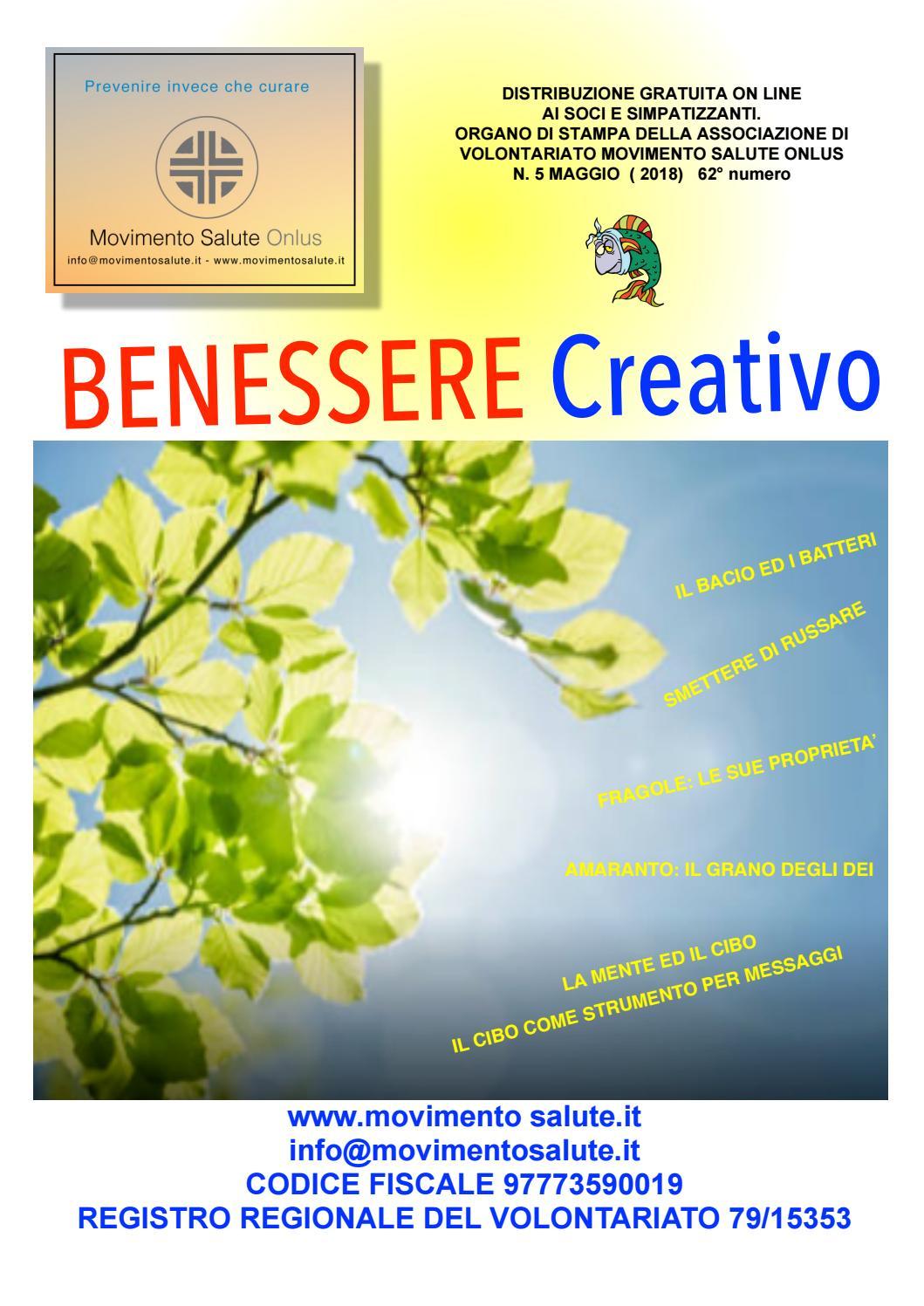 Benessere Creativo Maggio 2018 By Info Movimentosalute It Issuu
