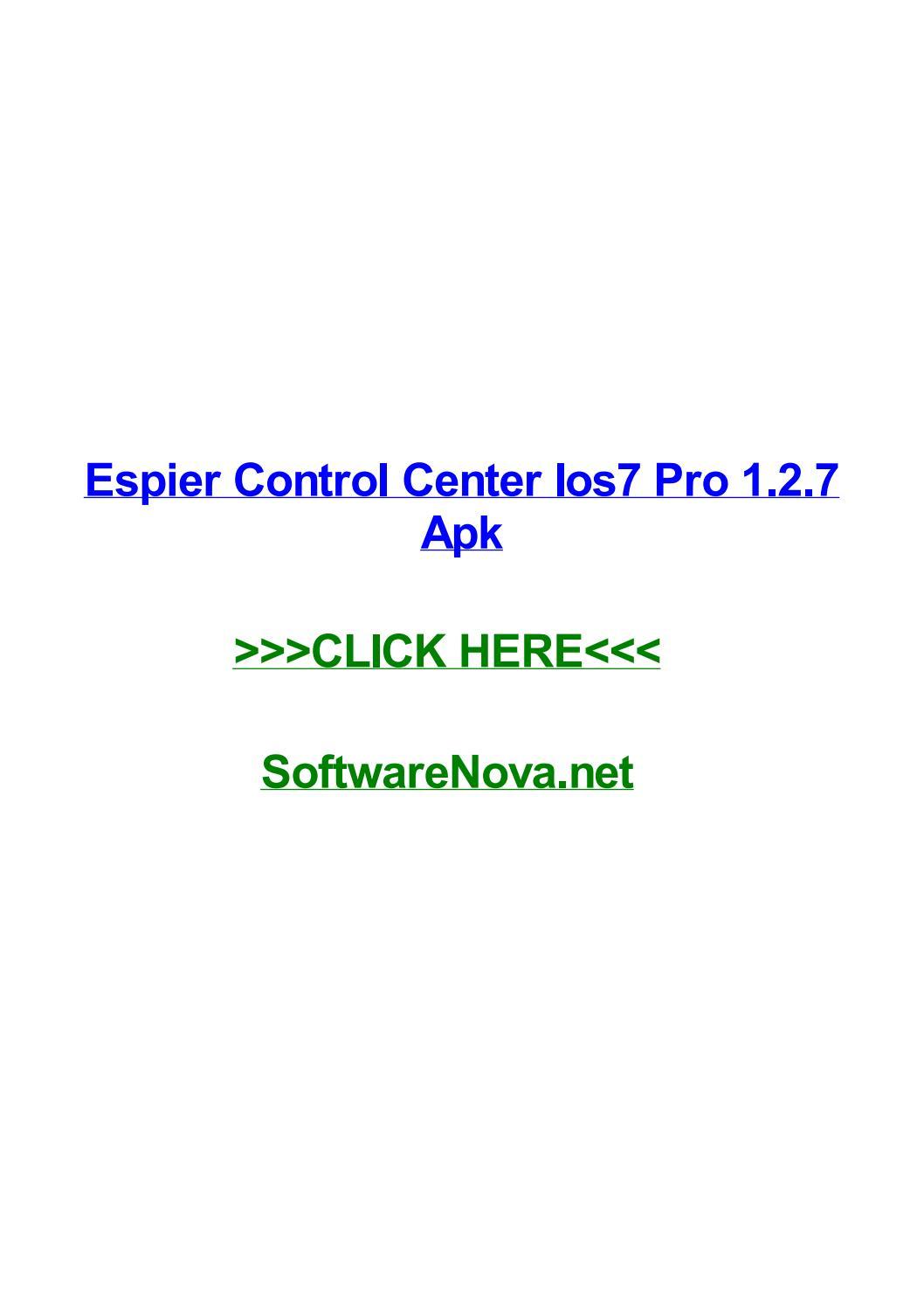 espier control center ios7 pro