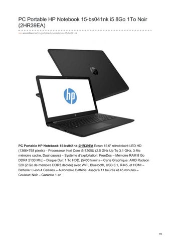 PC Portable HP Notebook 15-bs041nk i5 8Go 1To Noir (2HR39EA) acombien.tn pc- portable-hp-notebook-15-bs041nk 09286a171871