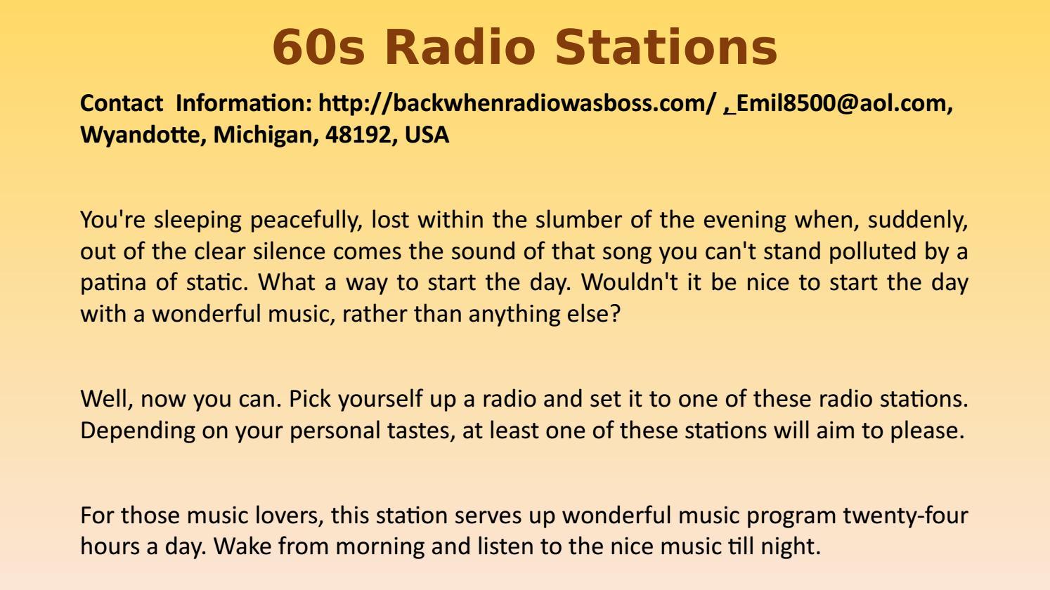 60s radio stations by Emilkovach - issuu