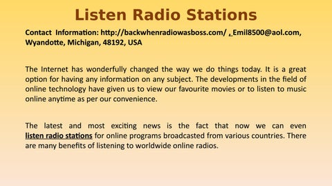 listen radio stations by Emilkovach - issuu