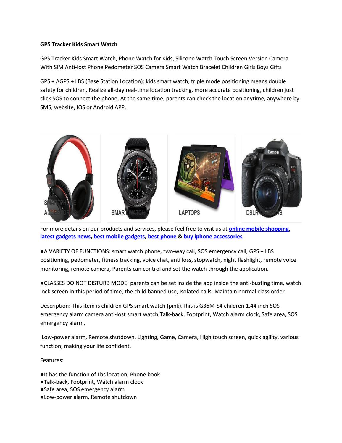 Gps tracker kids smart watch by dreamgadgetspro02 - issuu