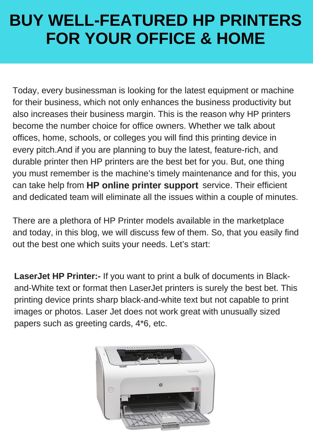 Well Featured Hp Printers For Your Office Home By Hp Printer