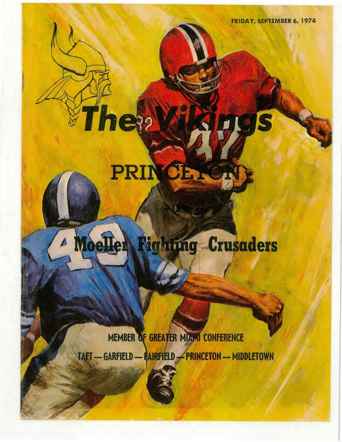 e1006430d062da Moeller High School 1974-75 Football Programs by Archbishop Moeller ...