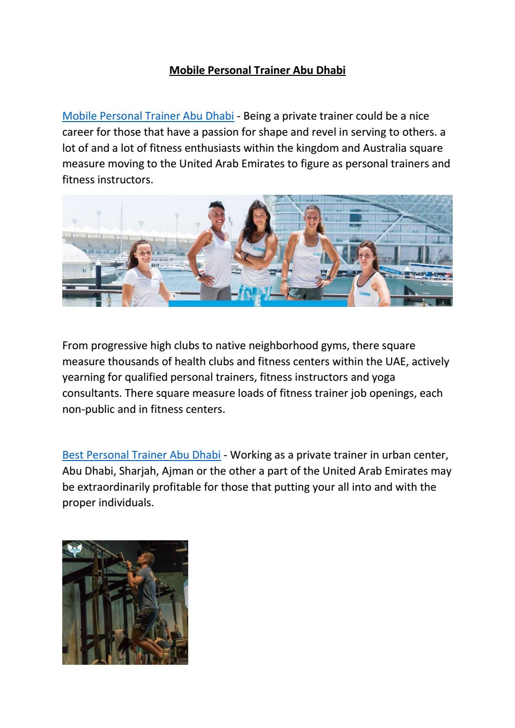 Mobile Personal Trainer Abu Dhabi by Vogue Fitness - issuu