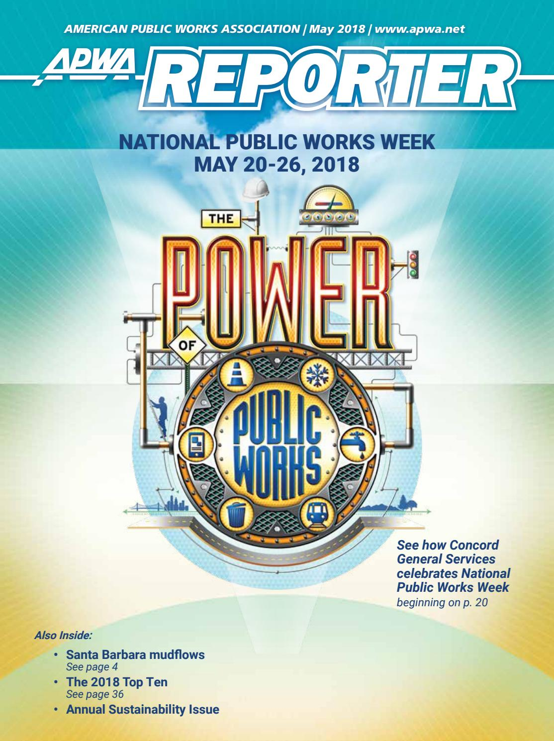 APWA Reporter, May 2018 issue by American Public Works