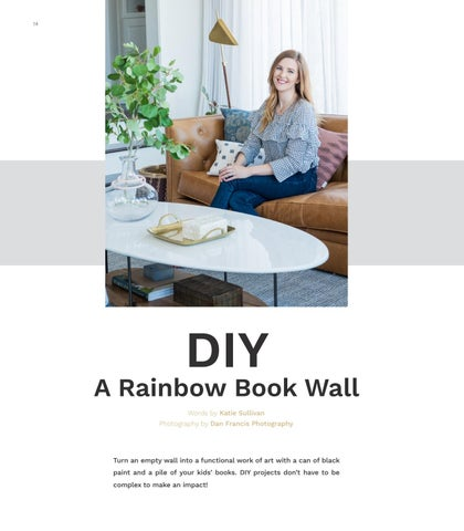 Page 14 of DIY: A RAINBOW BOOK WALL