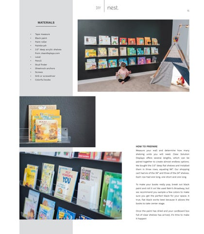 Page 15 of DIY: A RAINBOW BOOK WALL