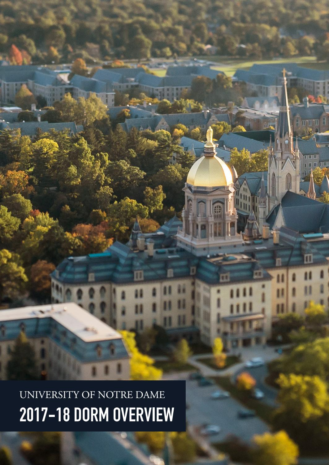 University Of Notre Dame 2017 18 Dorm Overview By Office Of Undergraduate Admissions University Of Notre Dame Issuu