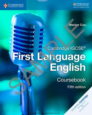 Preview Cambridge IGCSE First Language English Coursebook by
