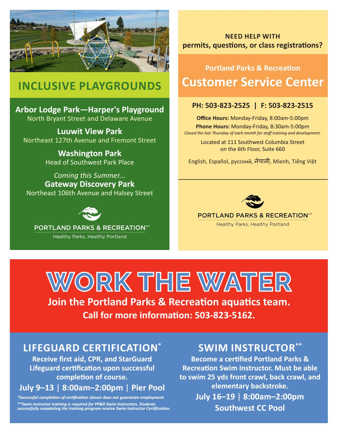 Southwest Community Center Summer Review 2018 By Portland Parks