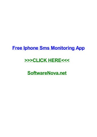 Free iphone monitoring app